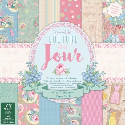 72 papeles 15,2x15,2cm. Couture Du Jour