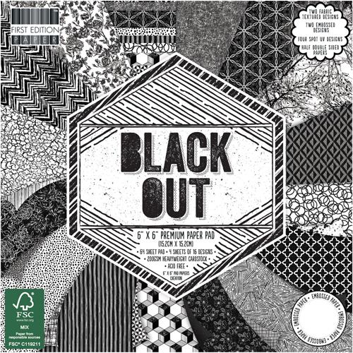 64 papeles 15,5 x 15,5 cm. Black Out