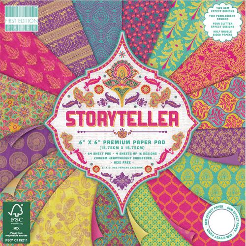 64 papeles 15,5x 15,5 cm. Storyteller