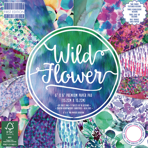 64 papeles 15,2 x 15,2  cm. Wild Flower