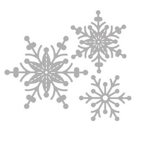 Troquel copito nieve 10,4x9 cm