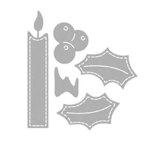Troquel Vela navidad 7x7,5 cm
