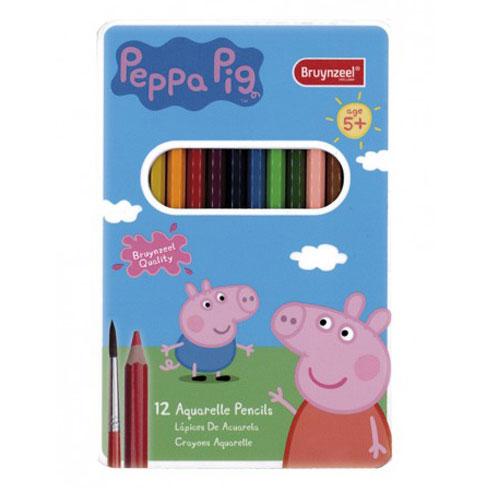 Set 12 Lápices acuarelables Peppa Pig