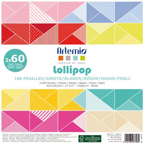 180 papeles 30,5 x 30,5 cm. Lollipop