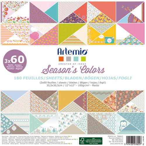 180 papeles 30,5 x 30,5 cm. Season's Colors