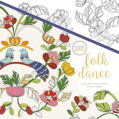 Folk Dance 25x25 cm. 40 hojas predibujadas