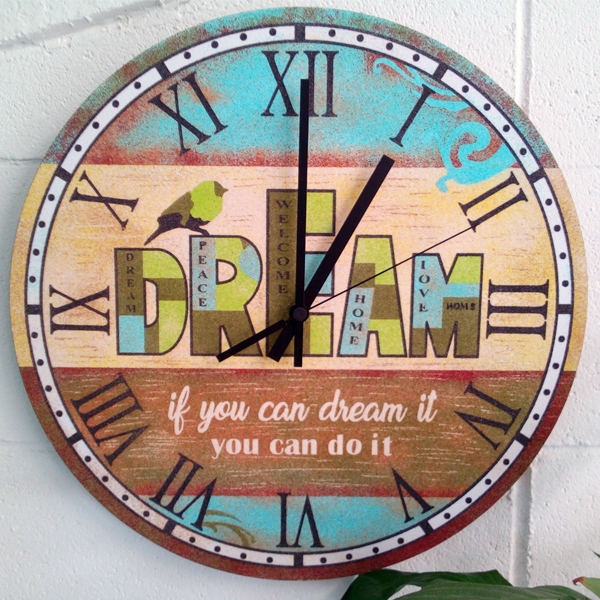 Set Pinta Reloj Pared con arenas. Dream