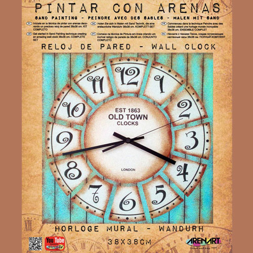 Set Pinta Reloj Pared con arenas. Old Town 1863