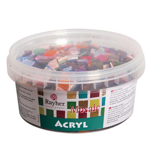 Mosaico Acrílico colores 1x1 cm 300 gr.
