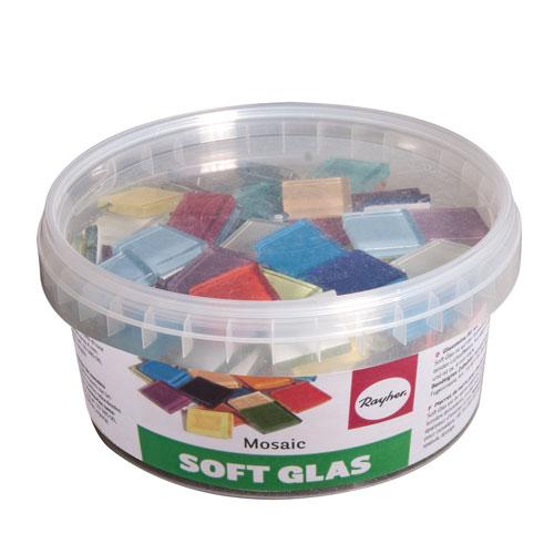 Teselas Soft Glass mezcla colores poligonal. 515 pzas