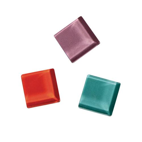 Teselas Soft Glass mezcla colores 2x2cm.140 pzas