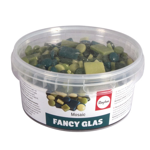 Teselas Fancy Glass Verdes 1 y 2 cm 395 ut.