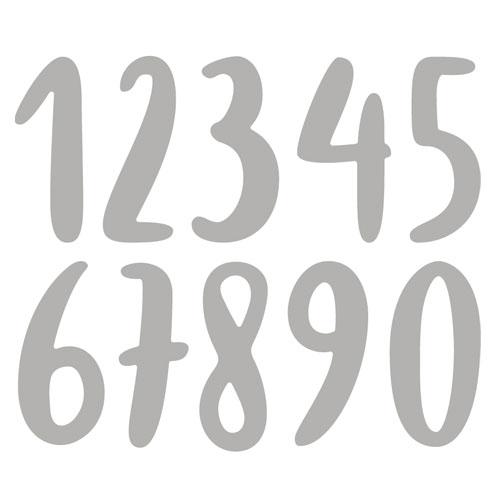 Troquel Números Acuarela