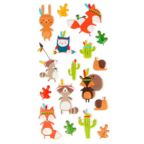Set figuras adhesivas animalitos 3D. Totem