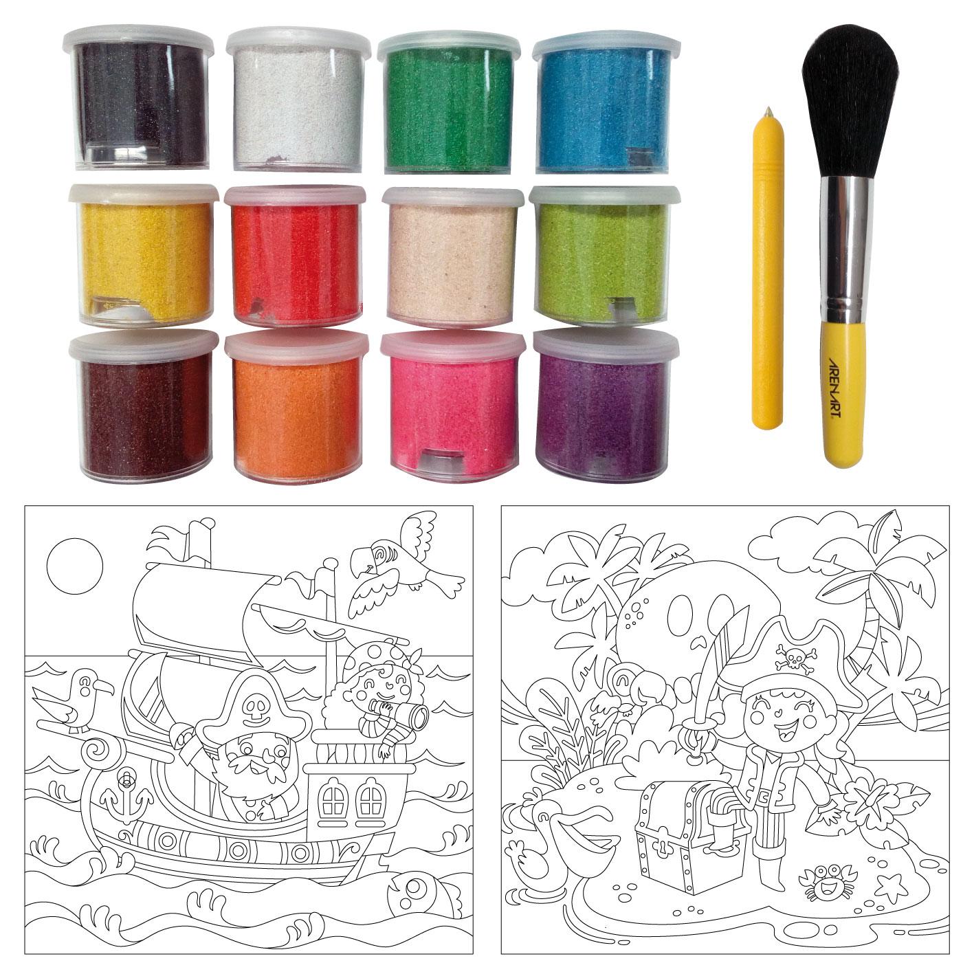 Sand Painting Piratas