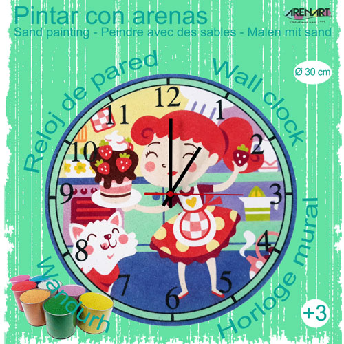 Set Pinta Reloj Pared con arenas. Cooking
