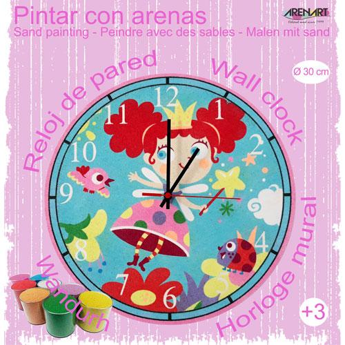 Set Pinta Reloj Pared con arenas. Hada