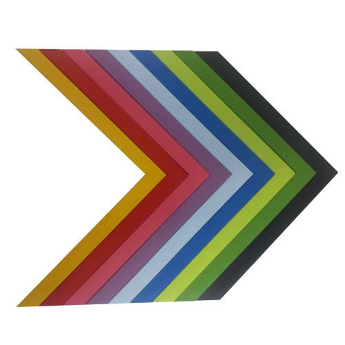 Marco con trasera 38x38 cm. 8 colores diferentes