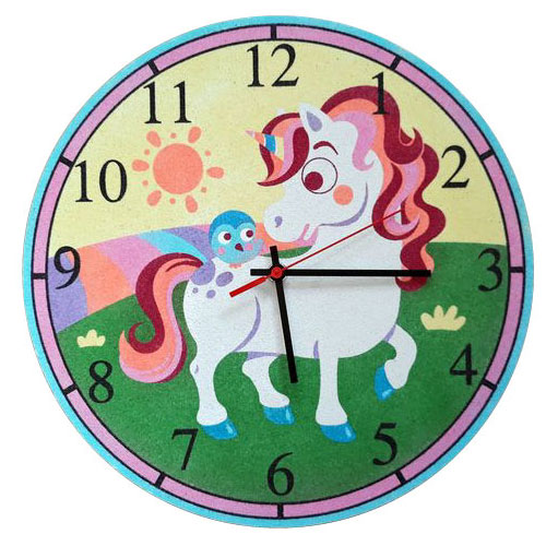 Set Pinta Reloj Pared con arenas. Unicornio