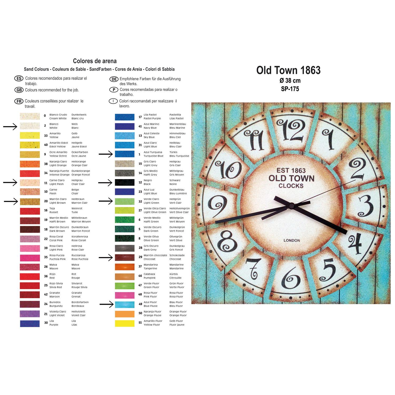 RELOJ Old Town 1863. 2 medidas disponibles Ø 38 y Ø 70 cm
