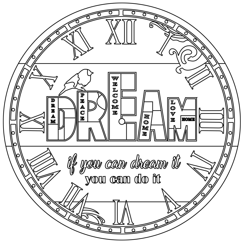 RELOJ Dream. 2 medidas disponibles Ø 38 y Ø 70 cm