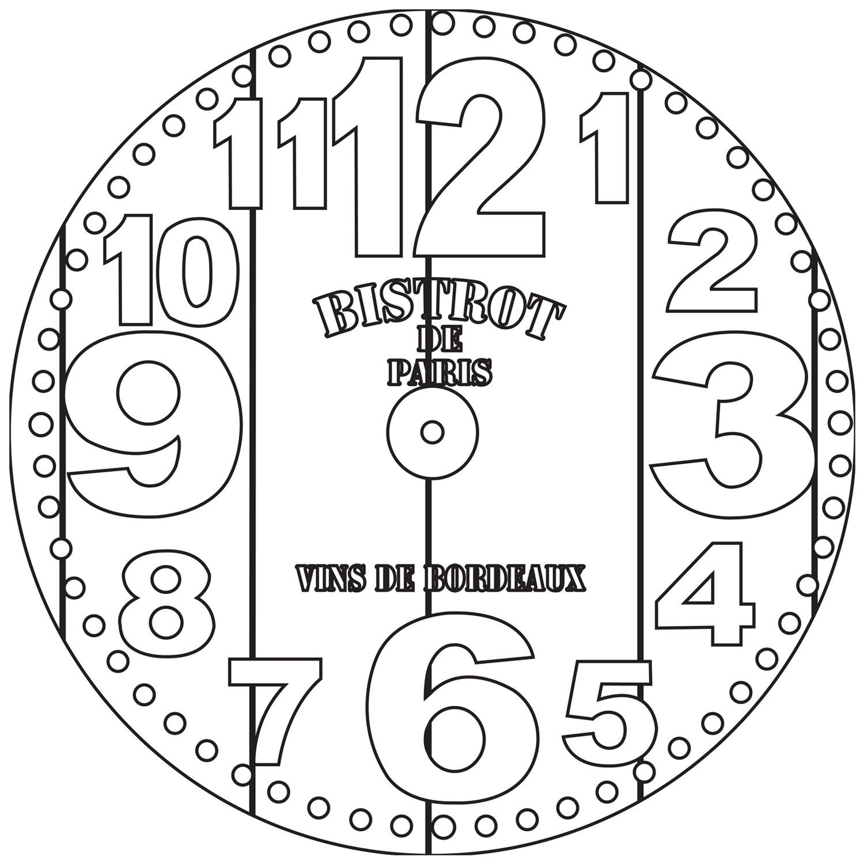 RELOJ Bistrot Paris. 2 medidas disponibles Ø 38 y Ø 70 cm