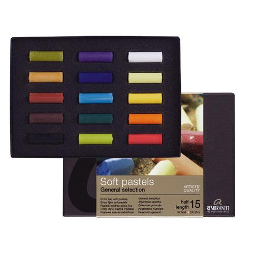 Set 15 medias barras pastel Rembrandt 300C15.5