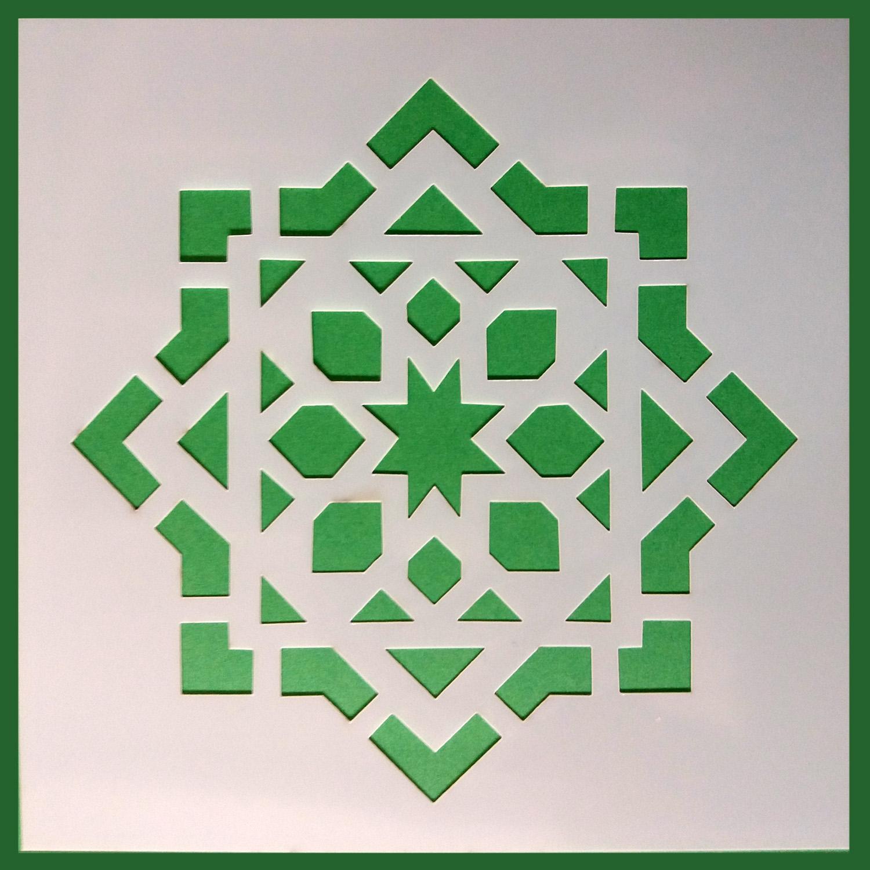 Stencil Mosaico 4 15x15 cm