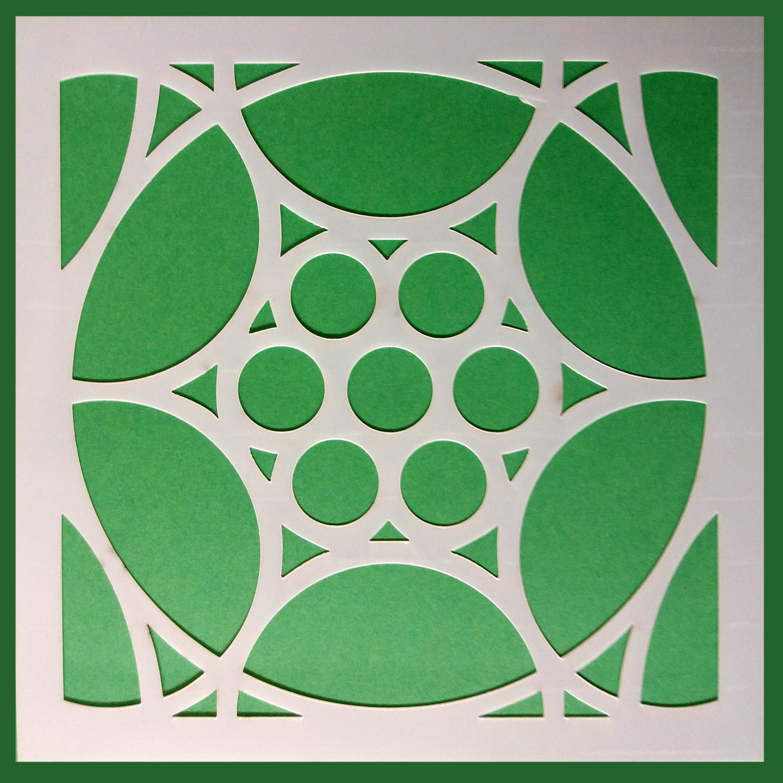 Stencil Mosaico 6 15x15 cm