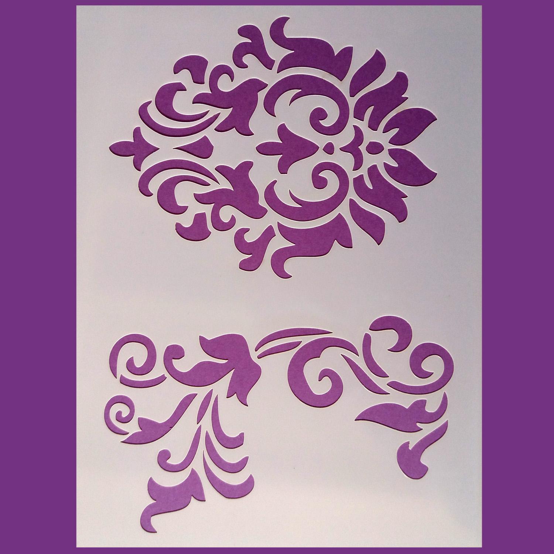 Stencil Flores 9 15x20 cm