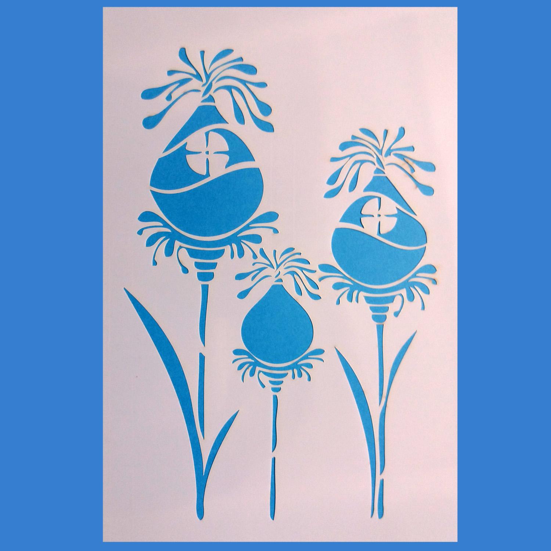 Stencil Flores 13 20x30cm