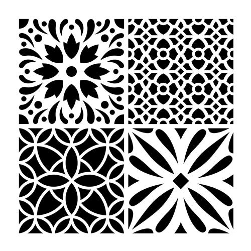 Stencil 30x30 cm Mosaico 2