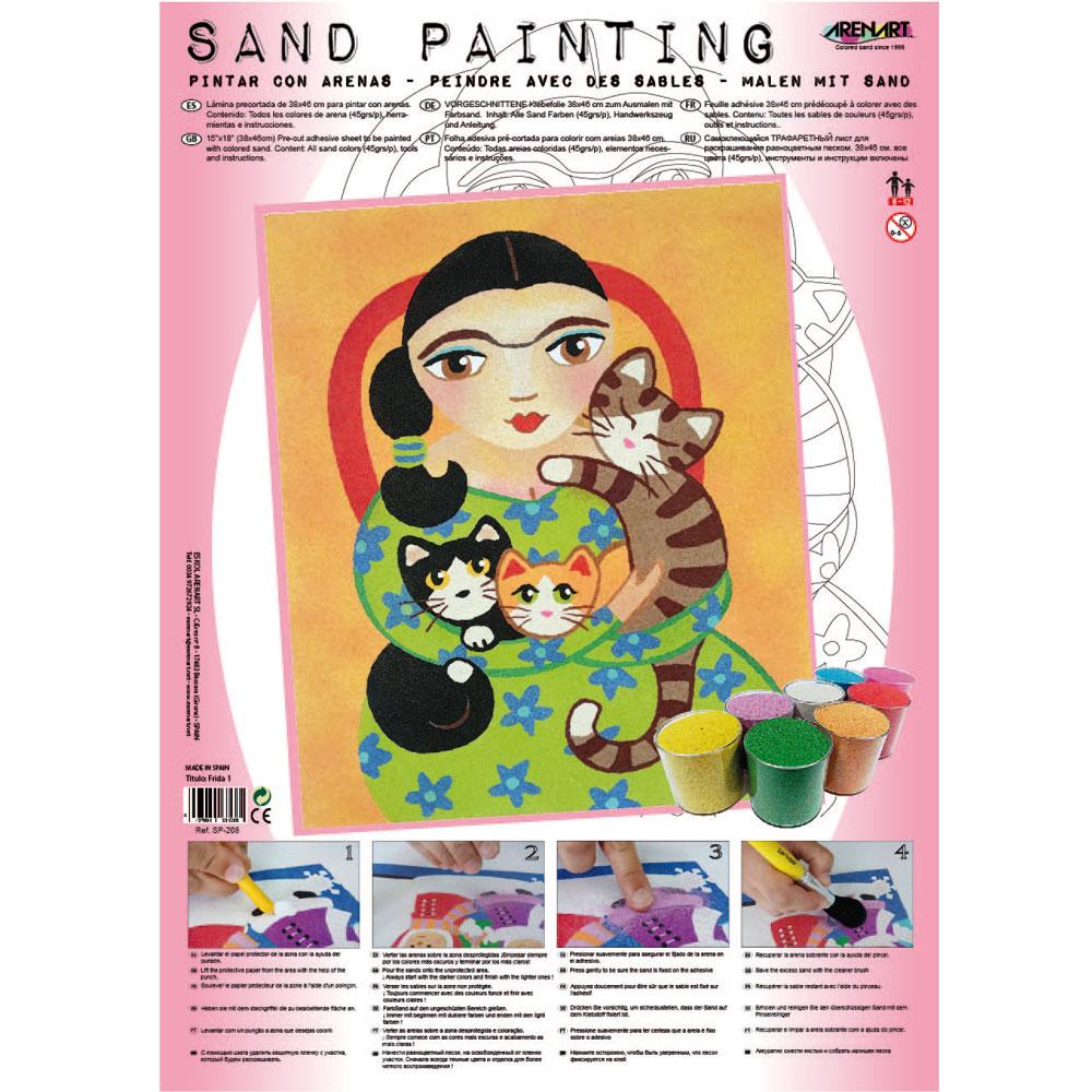 Sand Painting Frida Kahlo 1