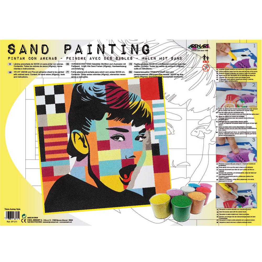 Sand Painting Audrey Pop Art