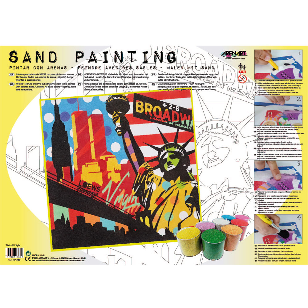 Sand Painting New York Pop Art