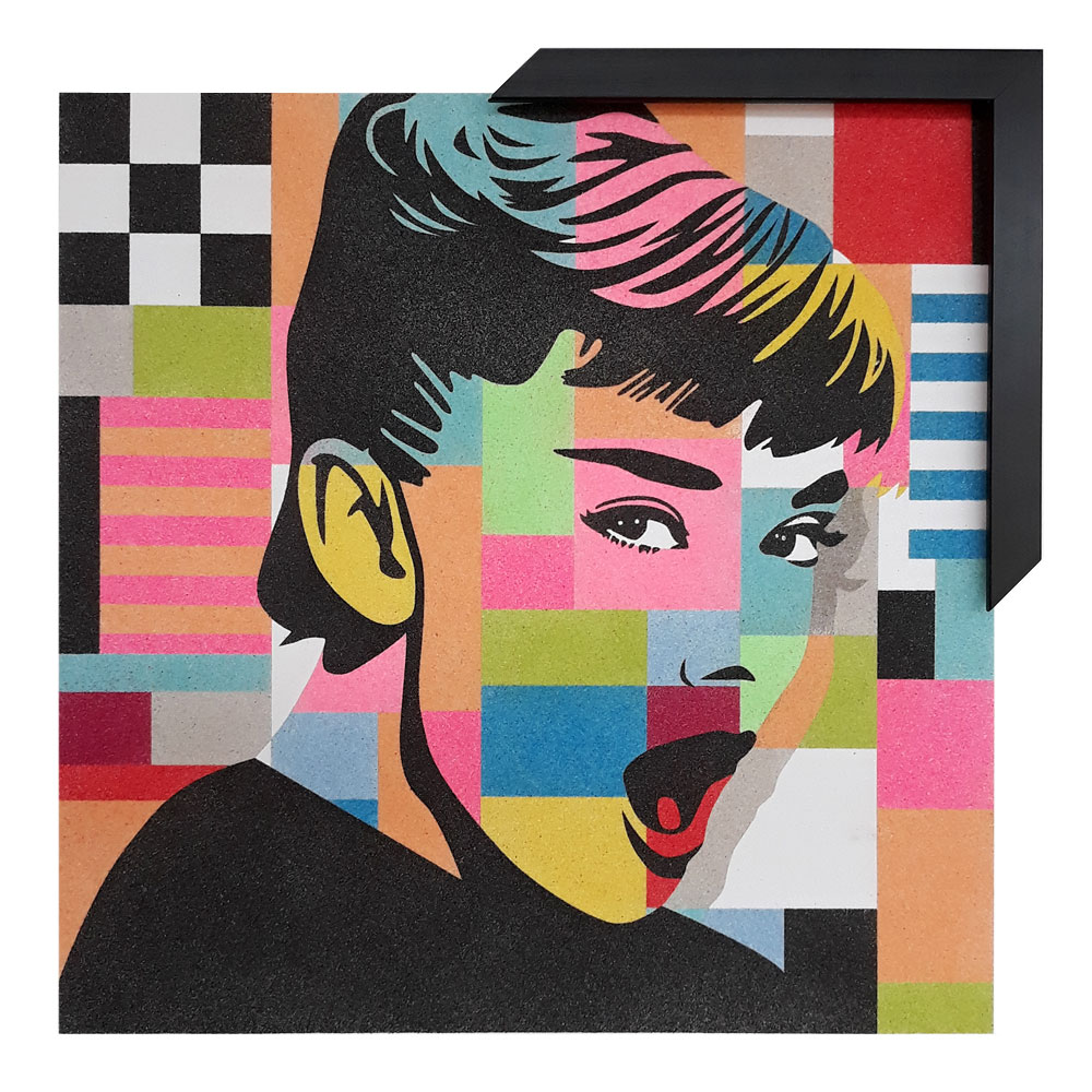 Marco con trasera 50x50 cm. 8 colores diferentes