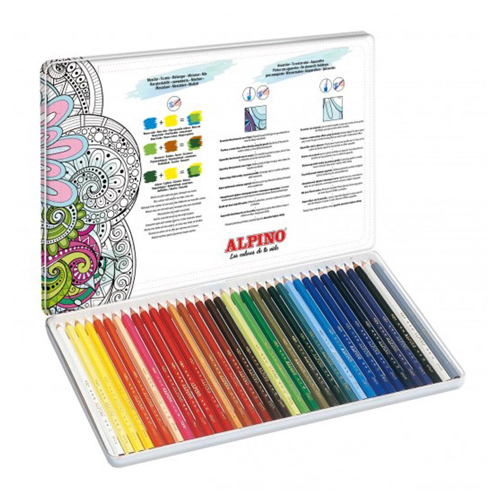 Estuche 36  lápices de colores Experience. Acuarelables