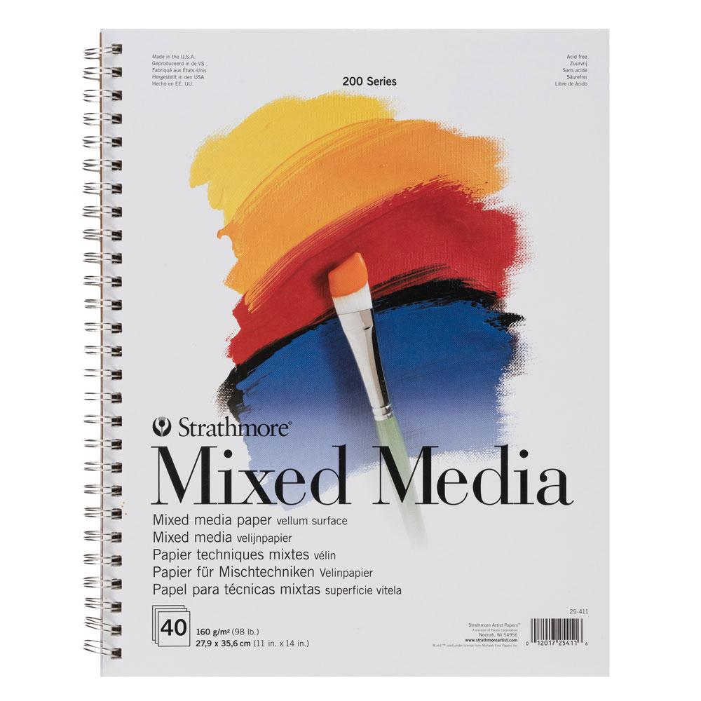 Bloc Técnicas mixtas Strathmore serie 200 40 hojas 160 g/m2. 27,9x35,6 cm