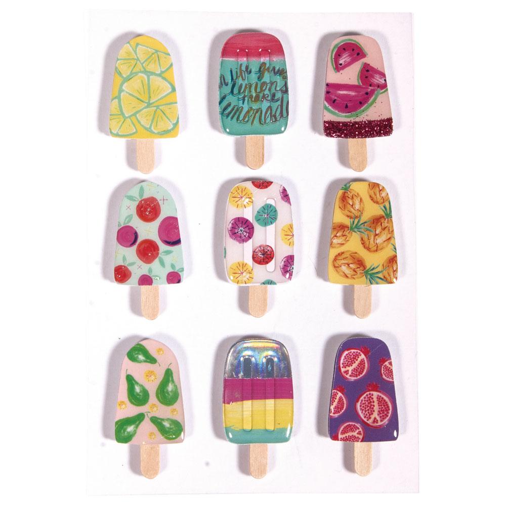 3D Sticker Ice-Cream 9 pzas