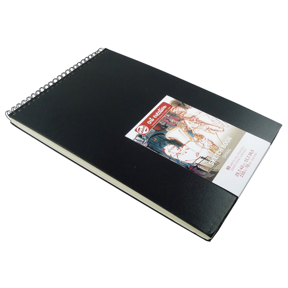 Cuaderno boceto tapa dura espiral Art Creation 80 hojas 110 g/m2. 42x29,7 cm
