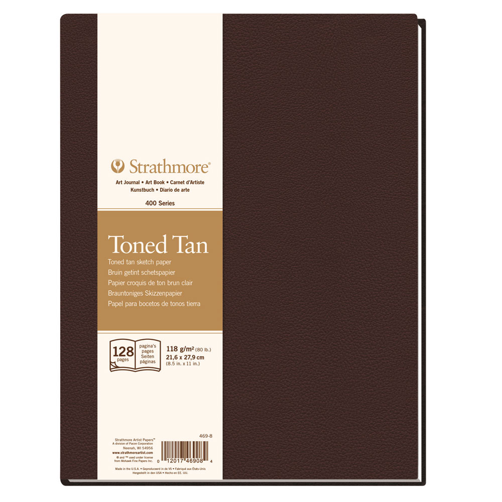 Cuaderno boceto tapa blanda Strathmore serie 400 64 hojas 188 g/m2. 21,6X27,9 cm Crudo