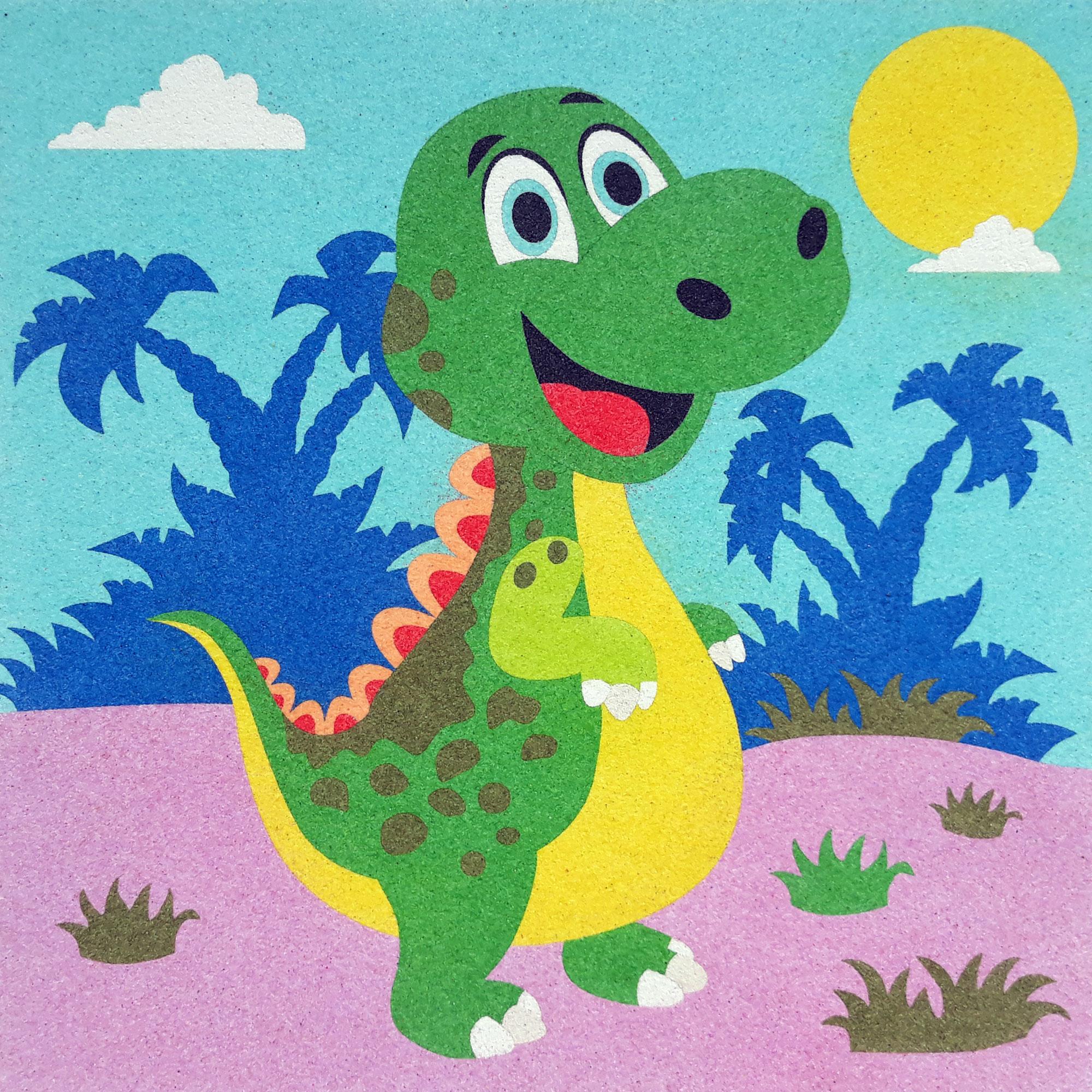 Sand Painting Dinosaurios 1