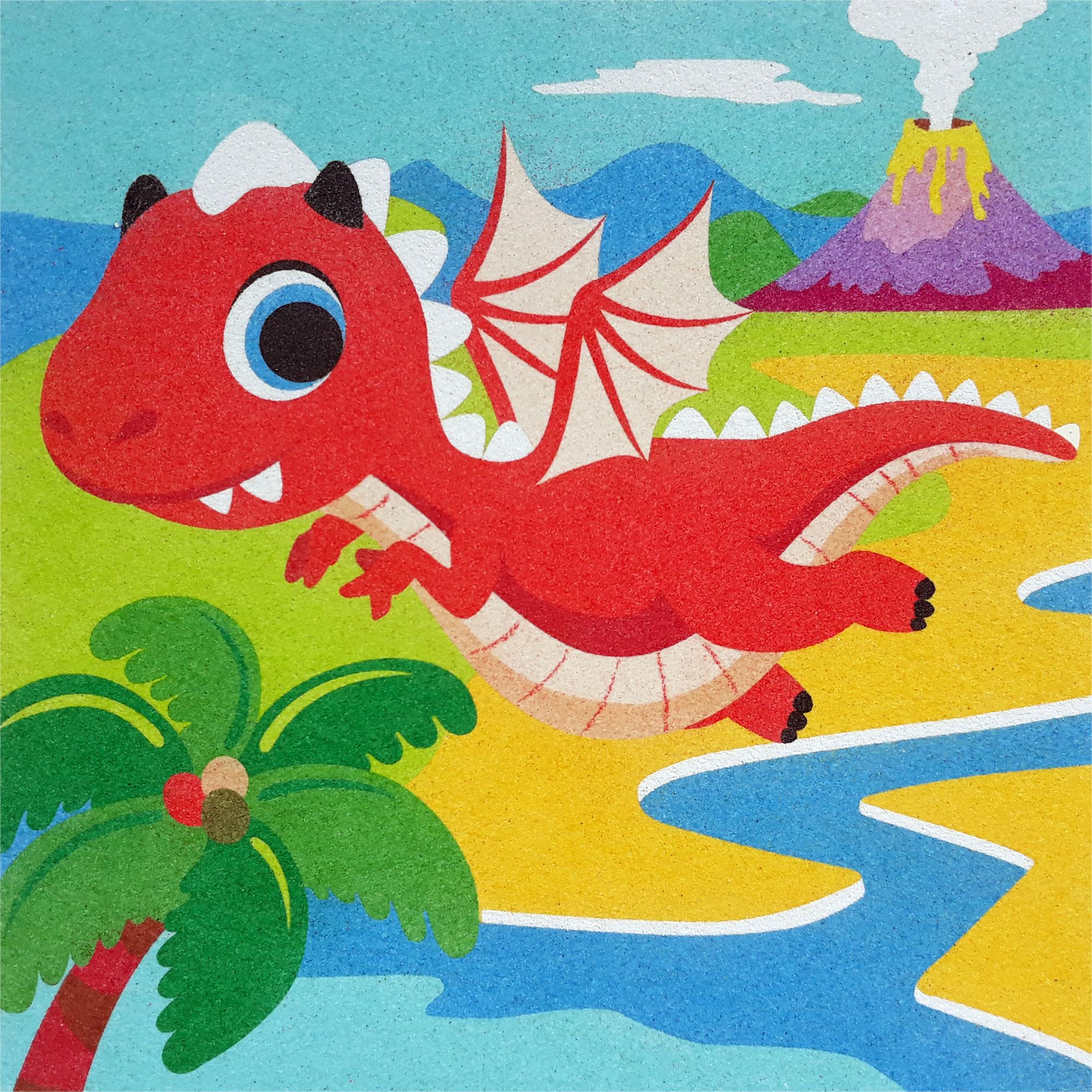 Sand Painting Dinosaurios 2