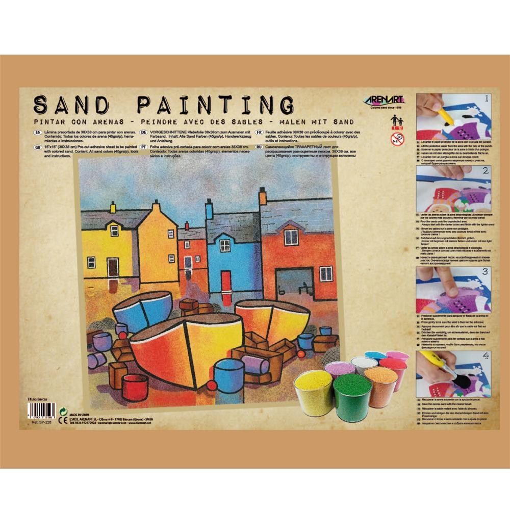Sand Painting Barcos Marineros