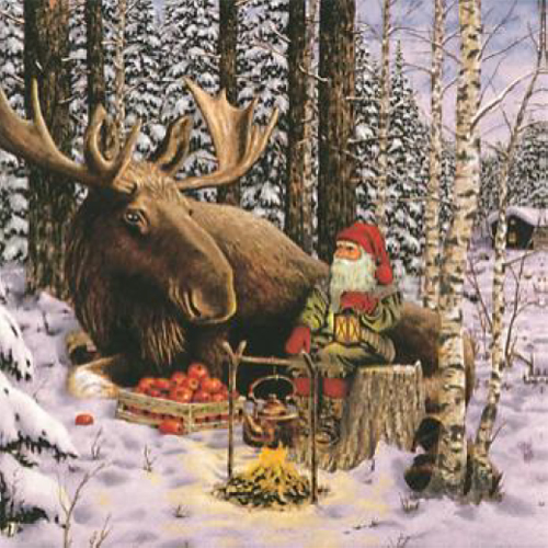 20 Servilletas Navidad. Nisse y Moose