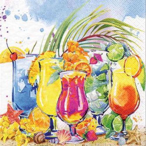 20 Servilletas. Summer Cocktails