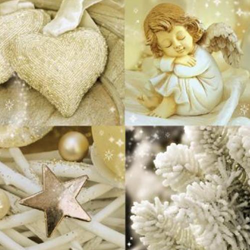 20 servilletas. Collage angel navidad