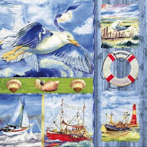 20 servilletas. Collage costero