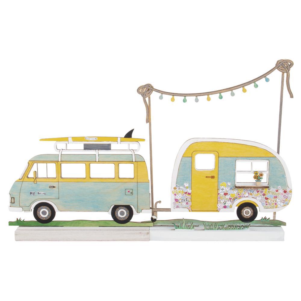 Silueta Campingbus 20x13,8x0,4cm