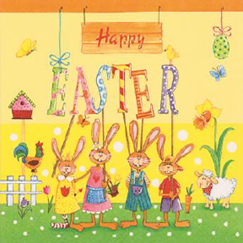20 servilletas. Feliz Pascua
